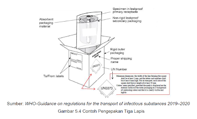 who-guidance on regulation for the transport of infectious substances 2019-2020 - contoh pengepakan tiga lapis