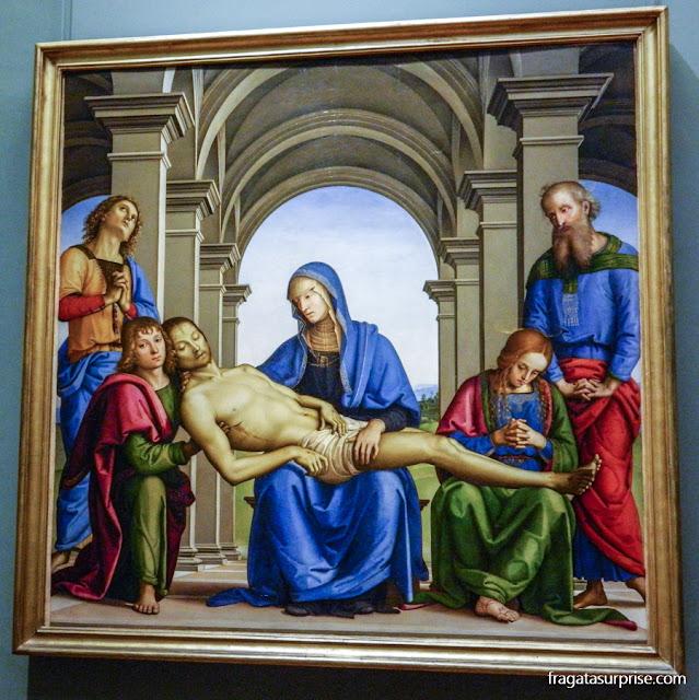 """Pietá"" de Perugino, na Galleria degli Uffizi, Florença"
