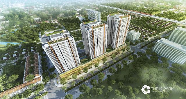 Phối cảnh chung cư The K-Park Văn Phú