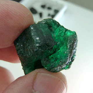 rough emerald from Brazil