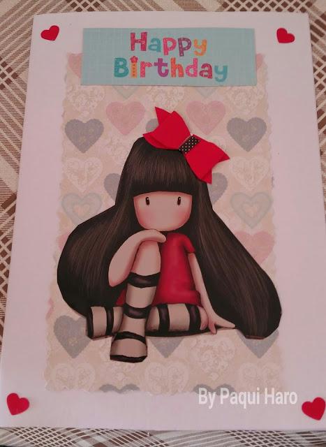 Tarjeta cumpleaños Chary