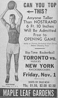 Tarihin ilk NBA maçı Toronto Huskies - New York Knickerbockers 2