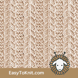 Gulls and Garter | Easy to knit #knittingstitches #knittingpattern