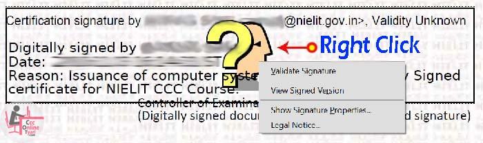 CCC Certificate E Certificate Signature Verification