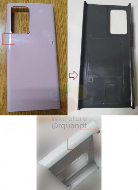 تسريبات صور حماية Galaxy Note 20 تقدم لمحات عن تصميم الهاتف