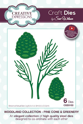 Woodland Collection Pine Cone and Greenery Dies - CED3103