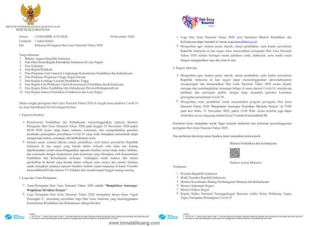 surat mendikbud peringatan hari guru nasional hgn 2020 pdf tomatalikuang.com