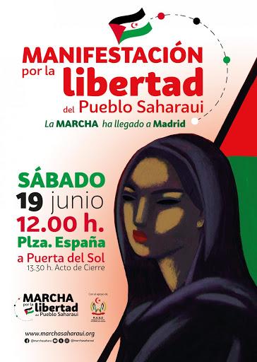 Manifestación por la libertad del Pueblo Saharaui