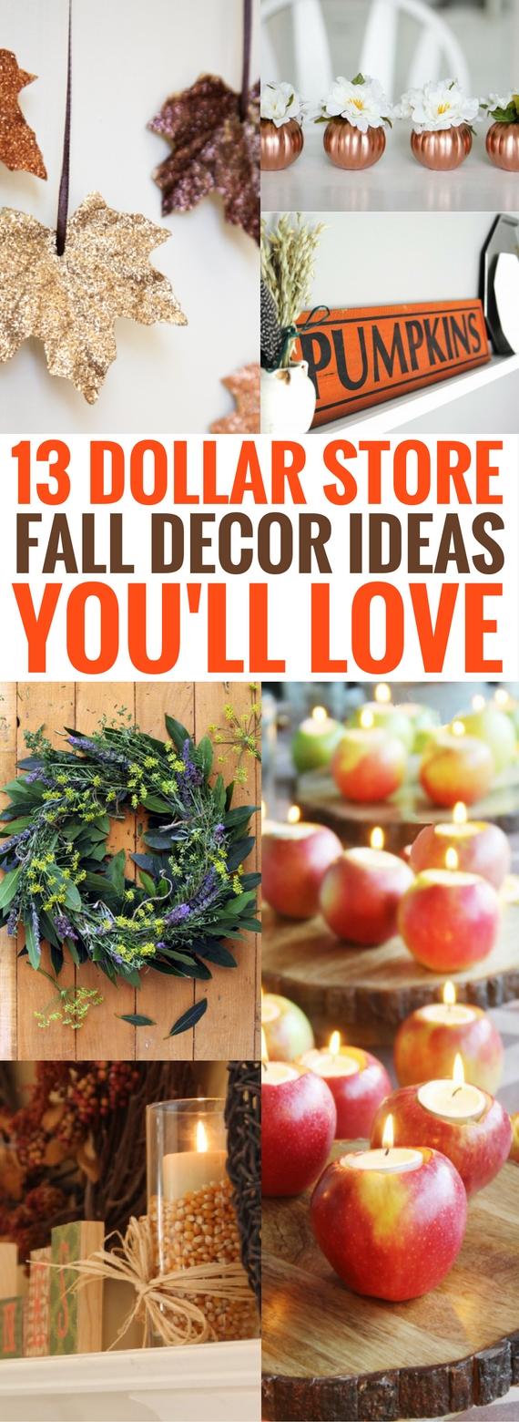 13 dollar store fall decor ideas you 39 ll go gaga over crafts on fire - Dollar store home decor ideas ...