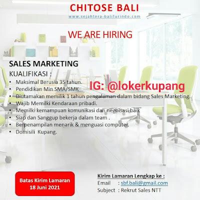 Lowongan Kerja Chitose Bali Sebagai Sales Marketing