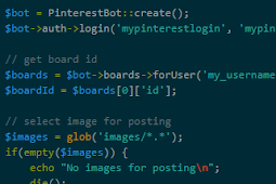 Auto Comment dan Auto Repin dengan Pinterest Bot PHP
