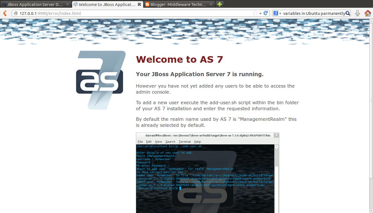 Middleware Technologies Arena: Installing JBoss Application