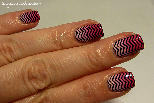 Pink Gradient & Black Stamping de Sweet Sugar