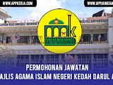 Jawatan Kosong di Majlis Agama Islam Negeri Kedah Darul Aman