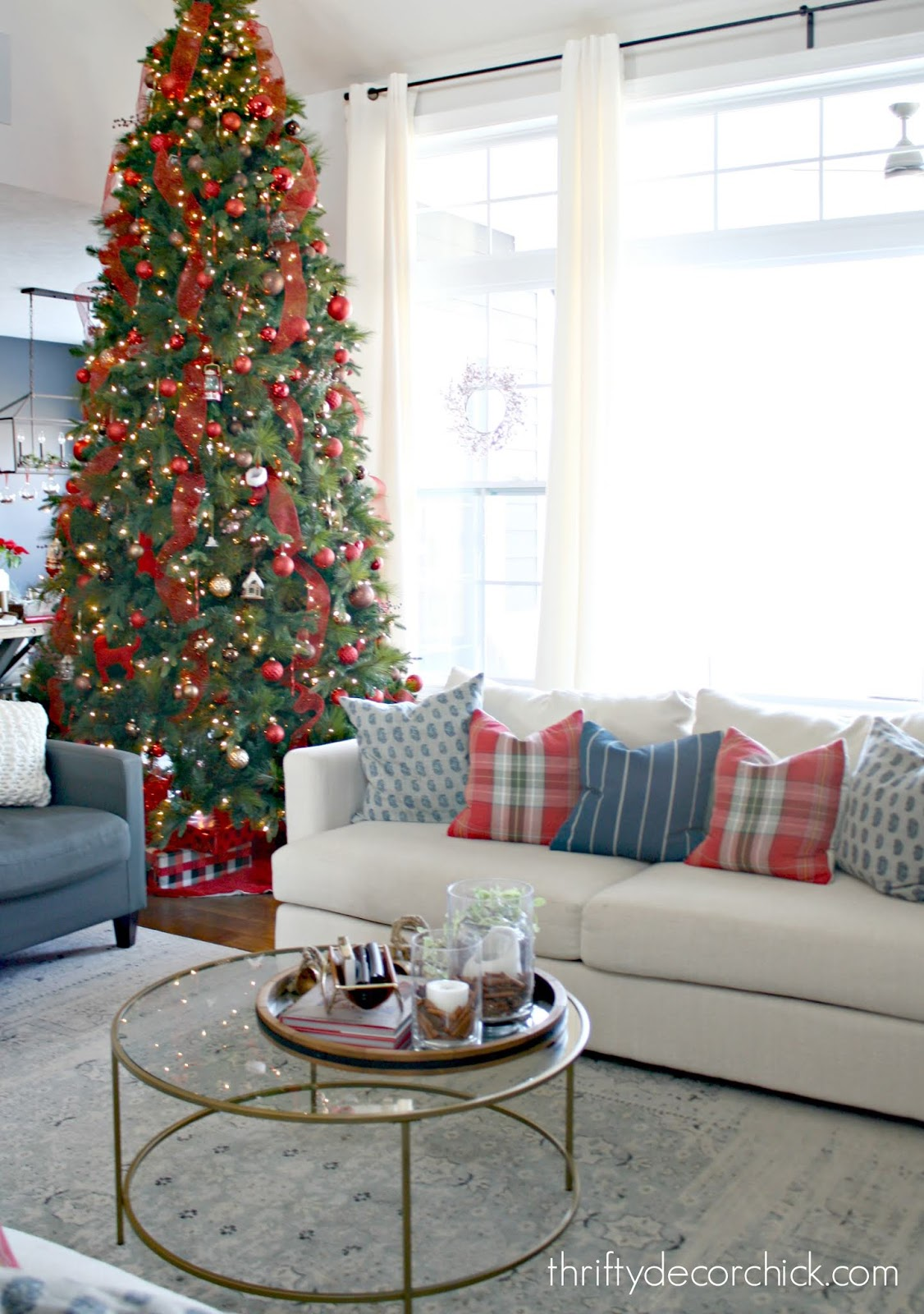 12 foot Christmas tree family room