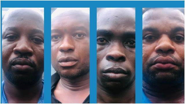 Faces Of Two Soldiers Among The 7-Man Robbery Gang That Attacked Bullion Van in Ebonyi (Photo)
