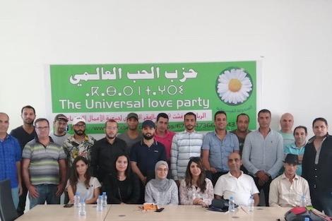 """نشطاء حزب """"الحب العالمي"""" ينشدون حل مشاكل المغرب والإنسانية"""