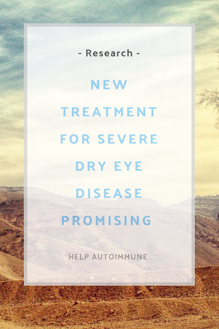 Treatment for severe dry eye disease