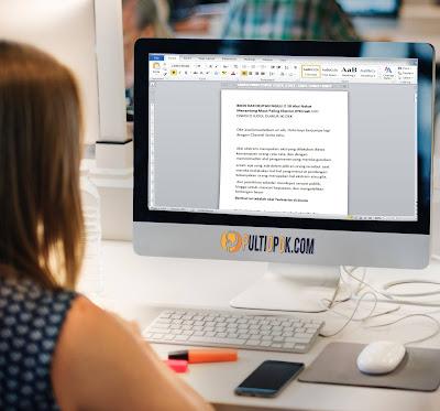 Cara mengatur jarak antar Baris di Microsoft word, Gampang banget