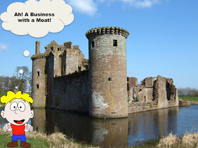 An Investor is feeling happy on identifying a business with an enduring moat