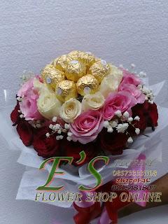 bunga tangan murah mawar dan coklat