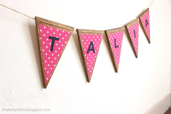 diy triangle wood banner