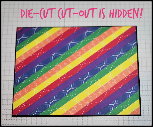 Die-Cut from cardstock mat is hidden by top panel!