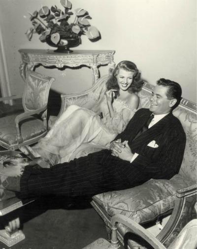 "Rita Hayworth and Glen Ford on the set of ""Gilda"" 1946"