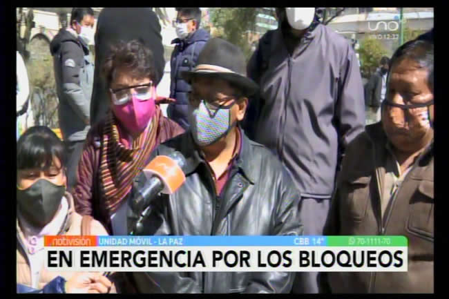 [Video] CONNIOB pide levantar bloqueos; desconoce a la COB de pinches a la cabeza del criminal Huarachi