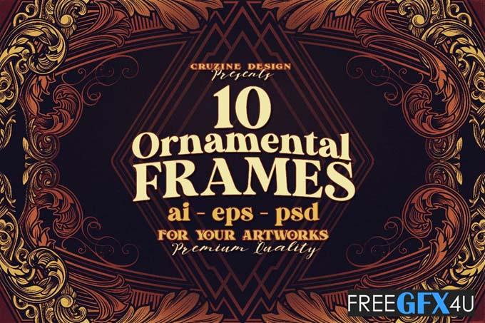 10 Victorian Ornament Frames Vol.8