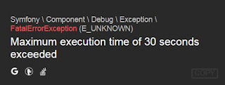 Laravel Homestead Maximum execution time of 30 seconds exceeded