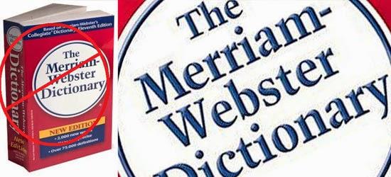 Coisas proibidas nos EUA - Dicionário Merrian Webster