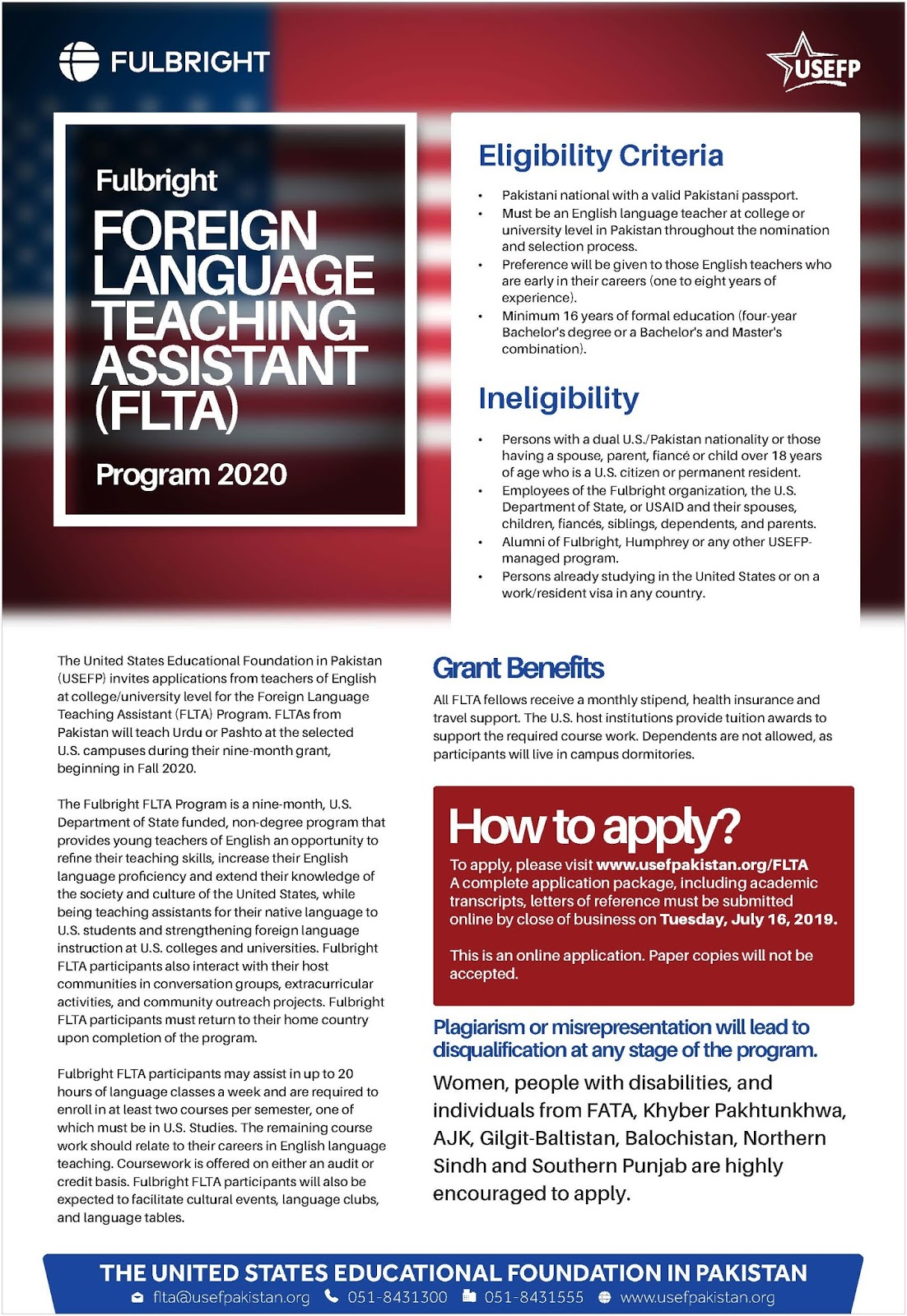 Fulbright Foreign Language Teaching Assistant (FLTA) Fully Funded Opportunity At America 2020