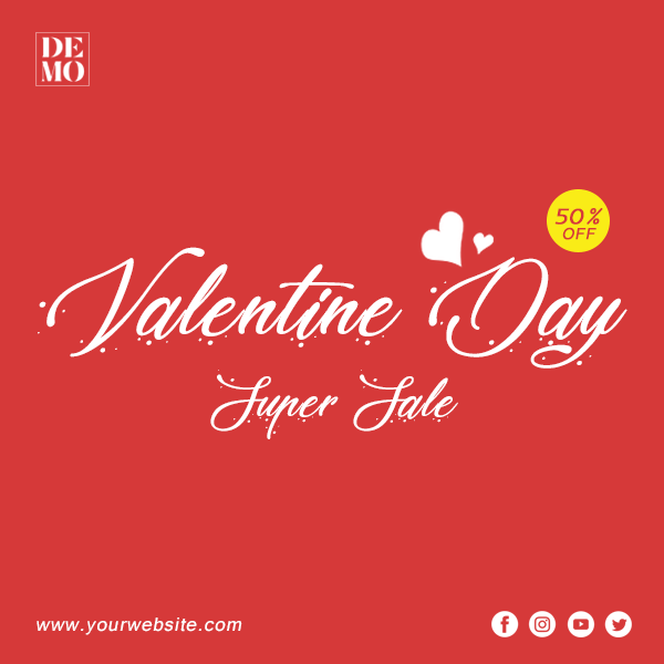 Valentine's Day Social Media Post Design Inspiration