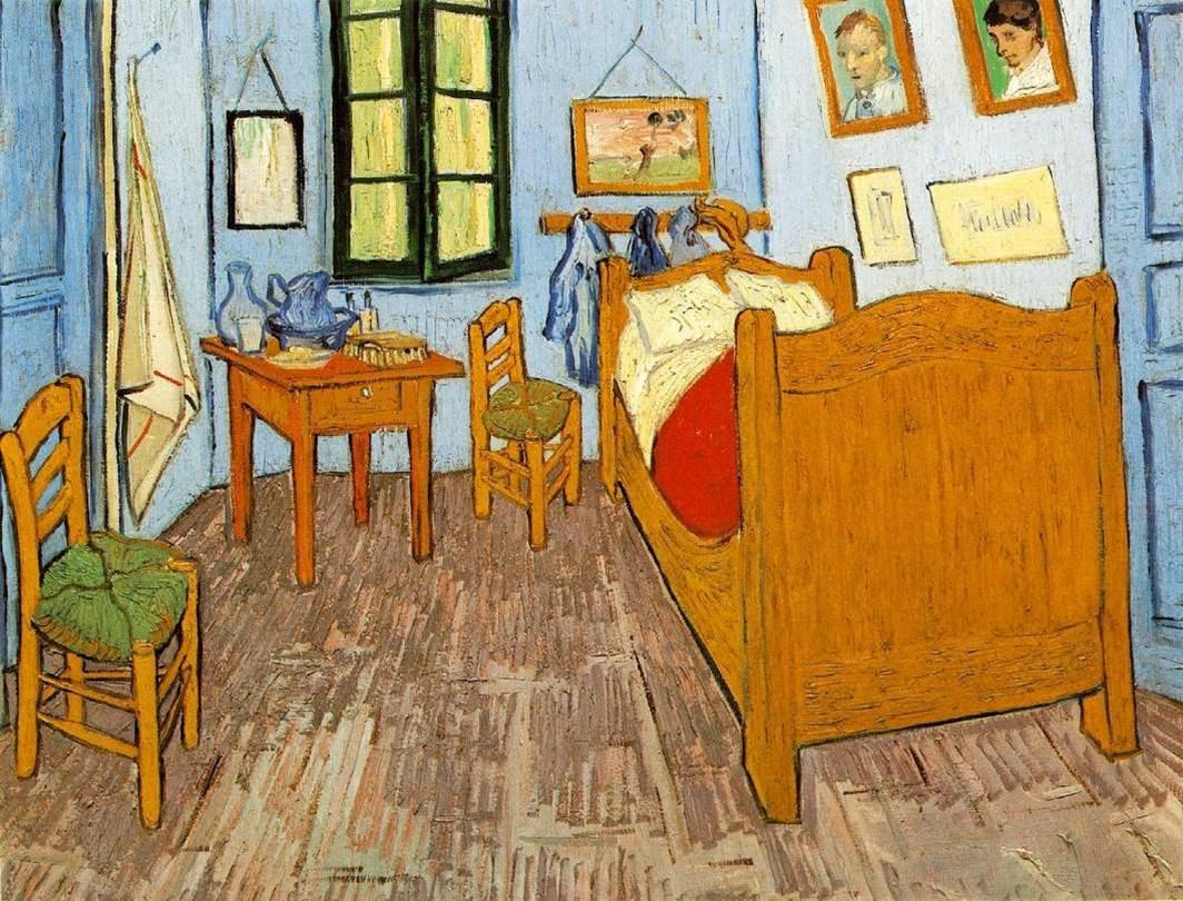 HISTORIA DEL ARTE : temas, imágenes y comentario: VAN GOGH. . Dormitorio en  Arlés