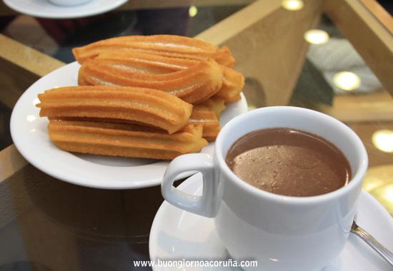 buongiorno A Coruña - 5 colazioni cioccolata con churros