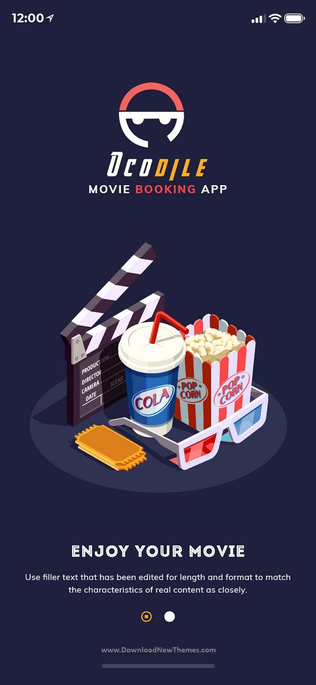 Movie Booking Mobile App UI Kit