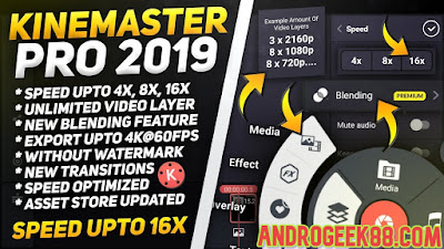 Kinemaster Pro mod apk without watermark || All Features Unlocked