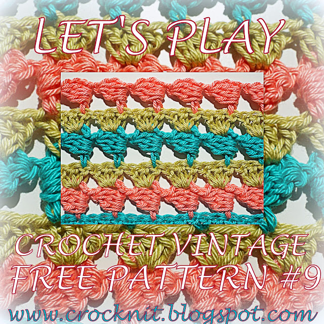 free crochet patterns, vintage crochet, how to crochet, sideways,