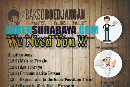 Bursa Kerja Surabaya Terbaru di Bakso Boedjangan Juni 2019