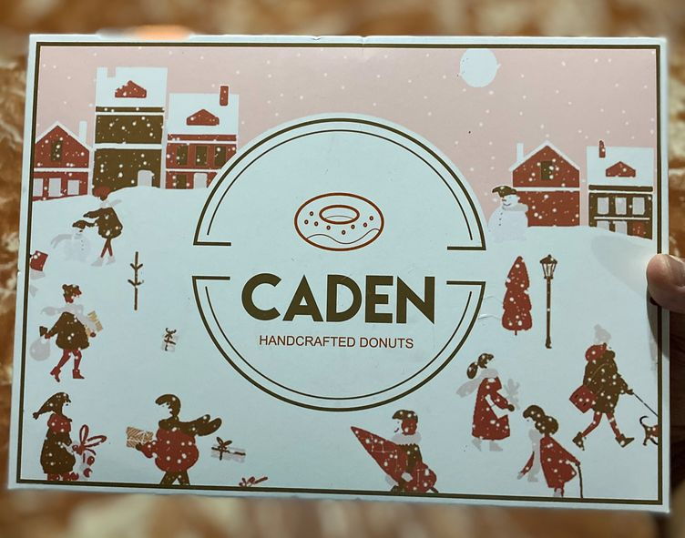 Good-looking box design of CADEN Handcrafted Donuts