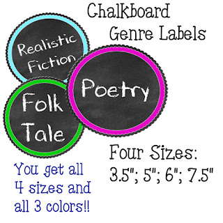 https://www.teacherspayteachers.com/Product/Chalkboard-Genre-Tags-4-Sizes-2680934