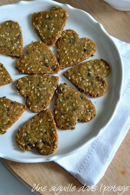 crackers-lentilles vertes-graines-algues-gluten free