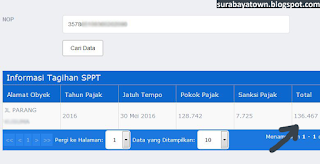 sppt tagihan pbb surabaya