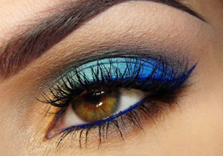 colors to think about for brown eyes are blue, purple, gold, copper and black for attractive smoky eye