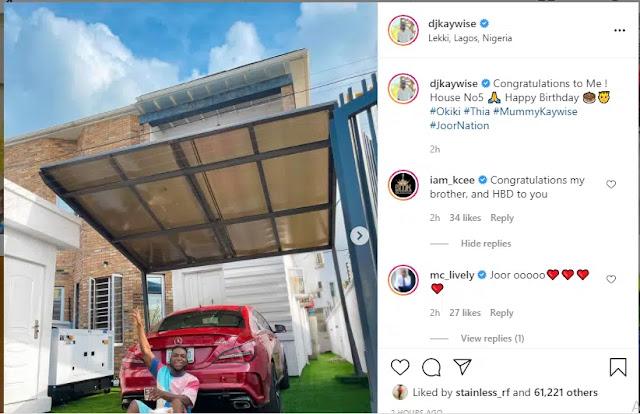 Nigerian Dj Kaywise buys his 5th mansion to celebrate his 29th birthday (Photos)