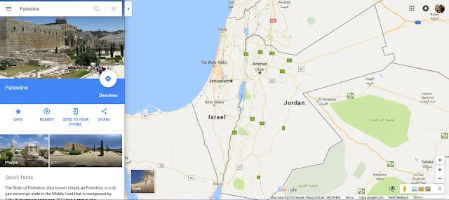 Ketika Google Hapus Nama Palestina dari Map-nya