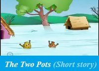 The Two pots (Short story for Kids), Clay pot and Copper pot story, Moral stories for kids, short stories for kids in english, kindergarten stories, short kids stories kids moral stories, Small English Stories Online Free, Very Short, Bedtime Stories