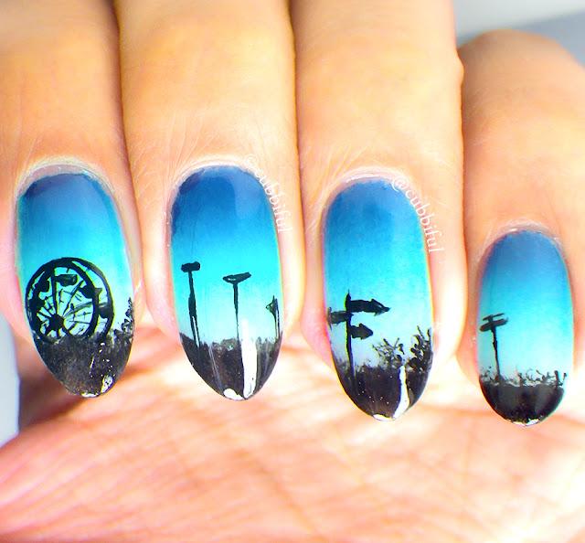 Ferris Wheel Nails
