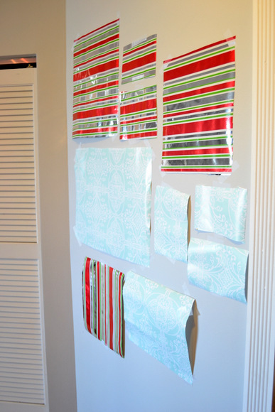 Christmas wrapping paper outlines